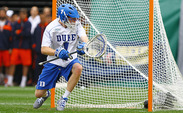 Kyle Turri made a career-high 16 saves as Duke defeated Cornell 16-14 to advance to the national championship game.