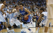 Freshman point guard Tyus Jones captured player of the week honors again after a spectacular performance against North Carolina.