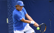Duke's Cale Hammond won his singles draw at the Wake Forest Invitational.