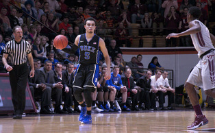 He struggled with his shot for much of the game, but Tyus Jones once again showed the poise that makes Duke's freshmen stand out Wednesday night.