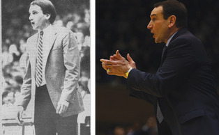 Despite being an unknown outside hire in 1980, Mike Krzyzewski has gone on to become the winningest coach in men's Division I history.