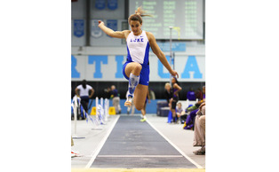 Teddi Maslowski set a Duke record when she jumped 6.33 meters at the Virginia Tech Challenge.