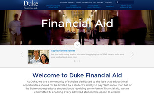 Duke's new financial aid website debuted Dec. 16