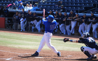Freshman Peter Zyla drove in five runs in Sunday's doubleheader as the Blue Devils cruised past N.C. Central.