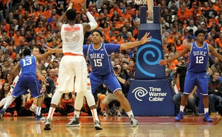 Known for dominating offensively, Jahlil Okafor showed his greatness with some key defensive plays to lead his team to win No. 22 on the season.