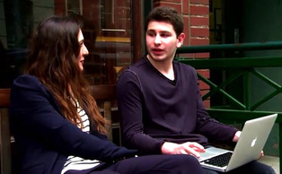 Freshman Max Snow, pictured above on right, is the CEO and founder of Backtrack, an app for music sharing and discovery.