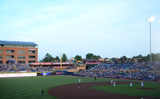 Completed in 1995, the new Durham Bulls Athletic Park has become one of downtown's primary selling points.