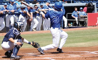 Duke senior captain Andy Perez hit .521 with two walk-off hits in the Blue Devils' weekend series against Pittsburgh.
