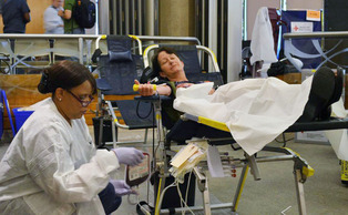 Following a blood shortage that spanned the summer months, Duke Hospital and the American Red Cross hosted a blood drive Wednesday.
