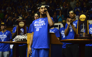 Senior Quinn Cook will get to hang a national title banner in the rafters of Cameron Indoor Stadium after Monday's win against Wisconsin.