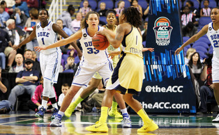 Playing at the top of Duke's zone defense, Haley Peters has found a way to make life for opposing offenses difficult.