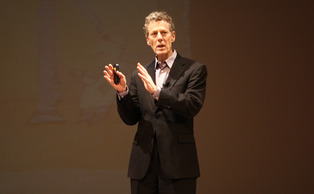 Bill Chameides, dean of the Nicholas School of the Environment, challenged the audience to use the arts to connect to the environment.