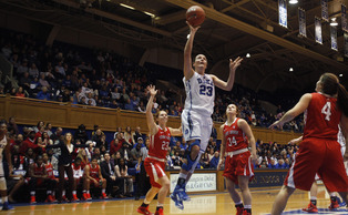 Redshirt freshman Rebecca Greenwell will look to bounce back from a 2-of-10 shooting performance at Nebraska as the Blue Devils host No. 1 South Carolina Sunday.
