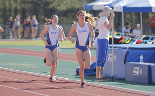 The Blue Devils set five school records in their first home meet at Morris Williams Stadium.