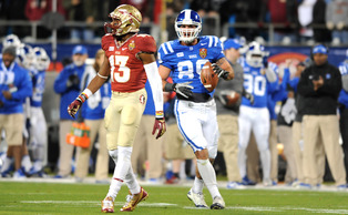 All-ACC tight end Braxton Deaver, along with Kelby Brown, will return from an ACL tear suffered in the preseason to play for the Blue Devils one final time in 2015.