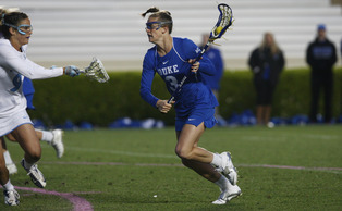 Senior Maddy Morrisey will look to prolong the Blue Devils season as they takes on Stanford Friday in the first round of the NCAA Championship.