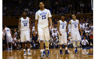 Duke's freshman quartet of Jahlil Okafor, Tyus Jones, Justise Winslow and Grayson Allen (not pictured) will all make their debut appearance in college basketball's most famous rivalry Wednesday.