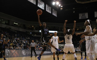 Senior Ka'lia Johnson posted the seventh triple-double in Duke women's basketball history Thursday night at Old Dominion.