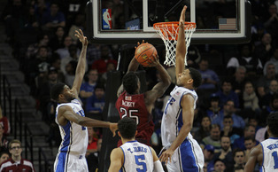 Duke's defense has been stingier than ever this season, holding teams to 57.4 points per game.