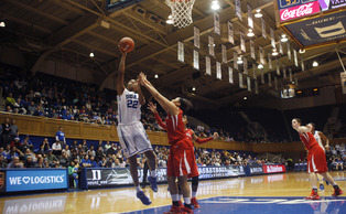Freshman Oderah Chidom finished the evening with 13 points and 11 rebounds to lead Duke past Stony Brook.
