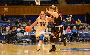 Redshirt freshman Rebecca Greenwell posted a double-double in her first career game as a Blue Devil, notching 17 points and 10 rebounds against the Crimson Tide Sunday.