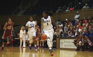 Senior Elizabeth Williams will look to build on her 26-point, 20-rebound performance Friday when the Blue Devils take on UMass Lowell.
