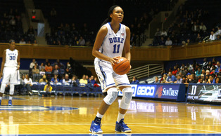 Duke freshman Azura Stevens posted 15 points and seven rebounds in the Blue Devils' loss to No. 7 Texas A&M Sunday.