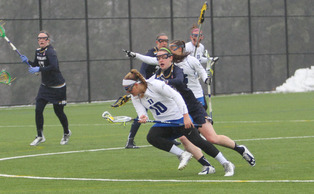 The Blue Devils dug themselves a six-goal hole Saturday and couldn't come all the way back, suffering their first loss of the year.