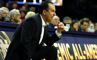Former Duke assistant coach and current Notre Dame head coach Mike Brey has the Fighting Irish sitting at second in the ACC and No. 8 in the nation.
