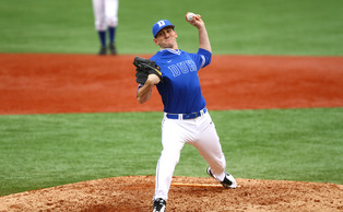 Redshirt senior Dillon Haviland and the Blue Devil relievers put together a two-hit, 5.2 inning shutout performance in Tuesday's win at Liberty.