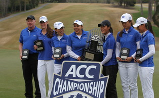 Entering the final round with a 14 stroke lead, Duke ran away from the competition en route to a 27-shot victory at the ACC Championships.