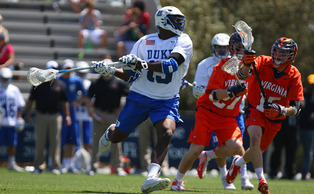 Junior midfielder Myles Jones netted a hat trick in Duke's 15-14 loss to Syracuse.