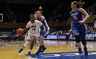 Senior Ka'lia Johnson has provided a steady veteran presence for a young Blue Devil team so far, and will be counted on Sunday against Texas A&M, Duke's first contest against a ranked opponent.