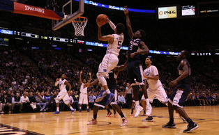 Freshman Tyus Jones led all Blue Devil scorers with 21 points against the Huskies Thursday.
