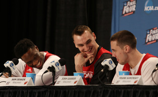 Wisconsin's players put on a show a day before their Final Four rematch against Kentucky by cracking several jokes in Friday's press conference.