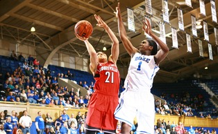 Elizabeth Williams finished just shy of a double-double with nine points and eight rebounds in Thursday's 71-45 win.