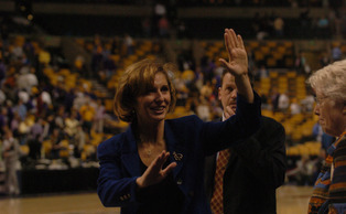 Gail Goestenkors took a struggling Duke program to four Final Fours in her 15 years in Durham. | Chronicle File Photo