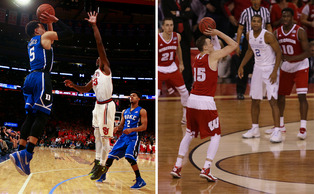 Tyus Jones and Sam Dekker will likely have the ball in their hands a lot if Monday night's title game is close late.