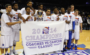 Duke captured the title at the Coaches vs. Cancer Classic by dispatching Stanford 70-59 in Brooklyn Saturday night.