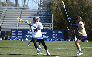 Senior Taylor Trimble has tallied 17 goals this season, including four in Saturday's win at No. 12 Louisville.