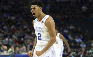 Quinn Cook scored 16 first-half points as Duke raced out to a big lead against Robert Morris.