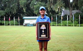 Sophomore Sandy Choi shot four-under-par on her final five holes to capture the individual title at the Cougar Classic at Yeamans Hall in Charleston, S.C.