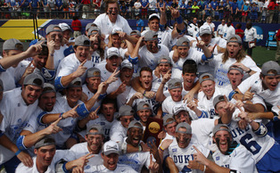 The Blue Devils captured their second straight national title with an 11-9 victory against Notre Dame Monday.