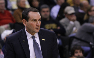 Duke head coach Mike Krzyzewski left the arena under his own power and is expected to make a full recovery.