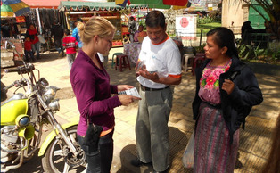 A student participates in DukeEngage Guatemala.