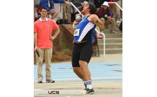 Stephen Boals claimed titles in both the shot put and discus in the Blue Devils' first outdoor competition of the spring.