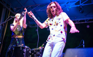 Indie band Youngblood Hawke performs at the Last Day of Classes concert.
