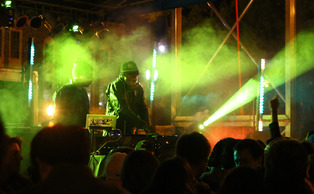The 2013 p-checks concert featured the Knocks, pictured, as well as DJ A-Trak and Tim Gunter.