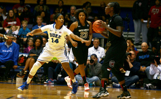 Senior guard Ka'lia Johnson has stepped up in her new role as the Blue Devils main ball handler, as she enters Wednesday's Oklahoma matchup averaging 6.1 points and four assists a game.