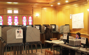 Members of the Duke community voted at one-stop early voting stations in the Old Trinity Room during the 2012 elections.